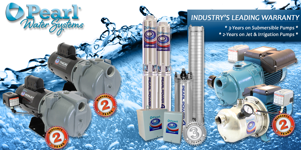 Pearl offers the BEST Manufacturer's Warranty on Submersible Pumps